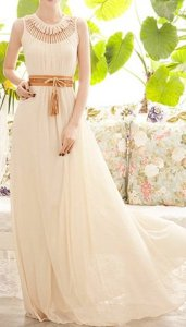 Apricot Sun Dress with Ruffles